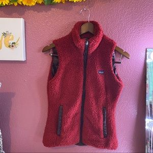 Patagonia women's fuzzy reversible vest xs